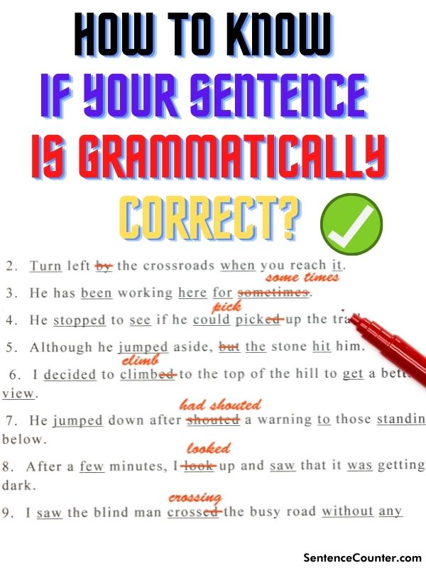 How To Know If Your Sentence Is Grammatically Correct?