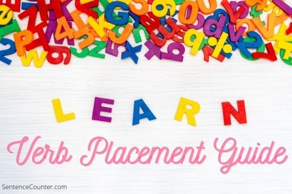 Verb Placement Guide   Grammer Rules